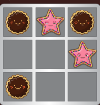 the chocolate pie has the best pattern to win. Notice 2 way win.