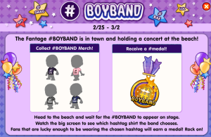 boyband medal