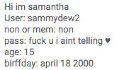 Sammydew2 Info