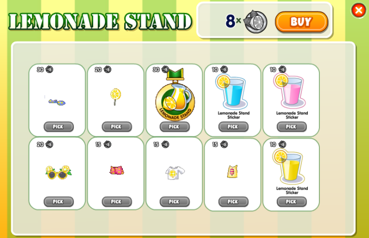 lemonade stand prizes